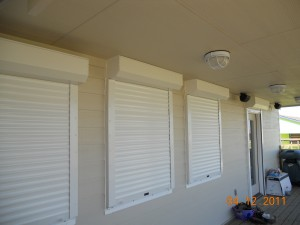 Rolling hurricane shutters protect your home or commercial property from high wind and storms in a matter of minutes. Call Johns Shutters and Repair for a free, no obigation quote 409-939-5135.