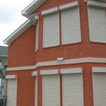 Rolling shutters from John's Shutters and Repair protect your home from storms and hurricane force wind and effectively secure your porperty anytime you want.  For a free, no obligatin quote contact John's Shutters and Repair at 409-939-5135